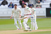 Wicket - Somerset's Ryan Davies is stumped by Lancashire's Alex Davies during the Specsavers County Champ Div 1 match between Somerset County Cricket Club and Lancashire County Cricket Club at the County Ground, Taunton, United Kingdom on 3 May 2016. Photo by Graham Hunt.