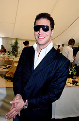 """LORD FREDDIE WINDSOR at a luncheon hosted by Cartier at the 2004 Goodwood Festival of Speed on 27th June 2004.  Cartier sponsored the """"Style Et Luxe' for vintage cars on the final day of this annual event at Goodwood House, West Sussex."""