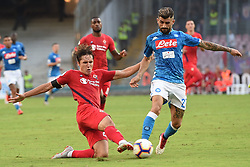 September 15, 2018 - Naples, Naples, Italy - Federico Chiesa of ACF Fiorentina competes for the ball with Elseid Hysaj of SSC Napoli during the Serie A TIM match between SSC Napoli and ACF Fiorentina at Stadio San Paolo Naples Italy on 15 September 2018. (Credit Image: © Franco Romano/NurPhoto/ZUMA Press)