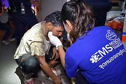 "ORDEAL OF DEAF MUTE STUCK FOR HOURS IN SEWER. .The diligence of 55 year old security guard Paiboon, carrying out his routine duties in the Jomtien area of Pattaya – Thailand's popular tourist hot spot saved a deaf mute from a malodorous end.. .Paiboon spent two hours trying to find the source of unintelligible sounds before discovering that a deaf mute had fallen into a 10m sewer and was trying to get help despite not being able to speak properly.. .The sewer was in a deserted building and except for Paiboon'spersistence, the man might never have been found.. .The rescue team was called and managed to get the man out of the sewer after thirty minutes but, understandably, was unable to make any comment.. .Paiboon however modestly said ""I did nothing really…just followed the sounds which intrigued me"".©Thai Rescue service/Exclusivepix Media (Credit Image: © Exclusivepix media via ZUMA Press)"
