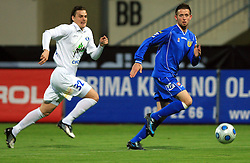 Janez Aljancic and Nejc Pecnik at 30th Round of Slovenian First League football match between NK Domzale and NK MIK CM Celje in Sports park Domzale, on April 25, 2009, in Domzale, Slovenia. Celje won 3:0. (Photo by Vid Ponikvar / Sportida)