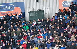 Fans in the South Stand.<br /> Falkirk 2 v 0 Dundee, Scottish Championship game at The Falkirk Stadium.<br /> &copy; Michael Schofield.