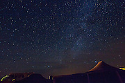 Milky Way, over Berber Tents, Erg Chebbi Dunes; Merzouga; Milky Way; Morocco