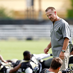 May 31, 2012; Metairie, LA, USA; New Orleans Saints defensive coordinator Steve Spagnuolo during organized team activities at the team's practice facility. Mandatory Credit: Derick E. Hingle-US PRESSWIRE