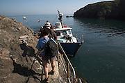 Tourist boat departure Skomer Island, Pembrokeshire, Wales