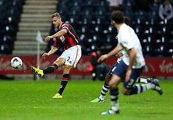 Simon Francis of Bournemouth in action - Mandatory byline: Matt McNulty/JMP - 07966386802 - 22/09/2015 - FOOTBALL - Deepdale Stadium -Preston,England - Preston North End v Bournemouth - Capital One Cup - Third Round