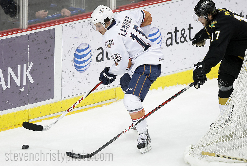 December 22, 2012: The Oklahoma City Barons play the Texas Stars in an American Hockey League game at the Cox Convention Center in Oklahoma City.