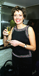 TV presenter CAROL VORDERMAN at a party in London on 20th October 1999.MXZ 29