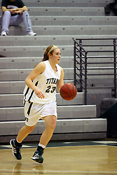 10 January 2009: Brittany Hasselbring. The Lady Titans of Illinois Wesleyan University downed the and Lady Thunder of Wheaton College by a score of 101 - 57 in the Shirk Center on the Illinois Wesleyan Campus in Bloomington Illinois.