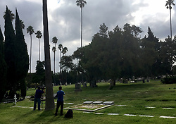 August 16, 2017 - Hollywood, California, U.S. - The Confederate monument used to stand near these graves of Confederate soldiers, as seen Wednesday, at the Hollywood Forever Cemetery. The monument was removed earlier in the morning following a violent white nationalist rally in Charlottesville, Virginia, on Saturday over Confederate statues in that statue. (Credit Image: © Los Angeles Daily News via ZUMA Wire)