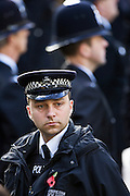 Metropolitan Police security at the Cenotaph, London, England, United Kingdom