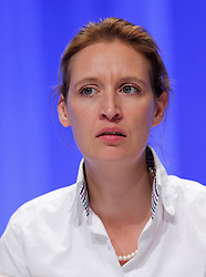 30.04.2016, Messe, Stuttgart, GER, 5. Bundesparteitag der AfD, im Bild Dr. Alice Weidel // during the 5th party convention of the Alternative for Germany (AfD) at the Messe in Stuttgart, Germany on 2016/04/30. EXPA Pictures © 2016, PhotoCredit: EXPA/ Sammy Minkoff<br /> <br /> *****ATTENTION - OUT of GER*****