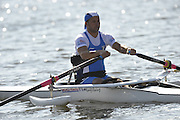 Poznan, POLAND,  ITA ASM1X, Efrem MORELLI,   competing in the  repehage, on the third  day of the, 2009 FISA World Rowing Championships. held on the Malta Rowing lake,Tuesday  25/08/2009  [Mandatory Credit. Peter Spurrier/Intersport Images] ; Adaptive.