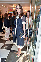 TANIA FARES at a party to launch Biscuiteers Fashion Biscuit Collection inspired by Alice Naylor-Leyland's wardrobe held at Biscuiteers, 194 Kensington Park Road, London W11 on 23rd June 2015.