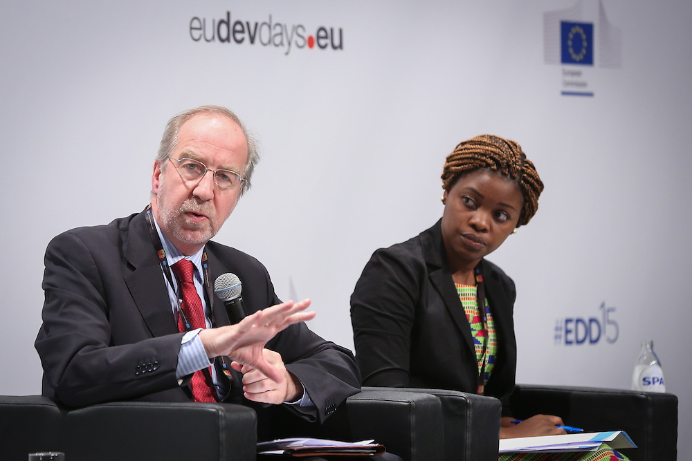 03 June 2015 - Belgium - Brussels - European Development Days - EDD - Food - Feeding the planet together - John Alistair Clarke , Director for International Affairs, Directorate-General for Agriculture & Rural Development, European Commission -  Catherine Mloza Banda , Future Leader © European Union