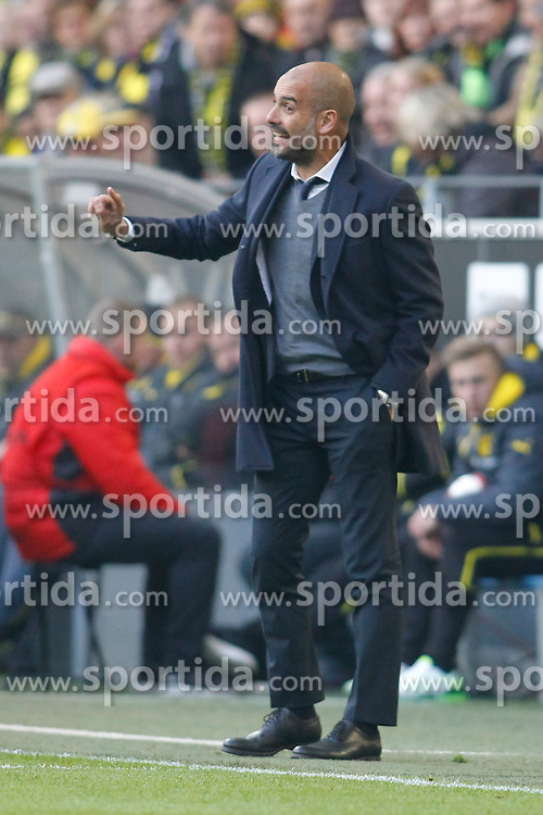 04.04.2015, Signal Iduna Park, Dortmund, GER, 1. FBL, Borussia Dortmund vs FC Bayern Muenchen, 27. Runde, im Bild Trainer Pep Guardiola (FC Bayern Muenchen) // during the German Bundesliga 27th round match between Borussia Dortmund and FC Bayern Muenchen at the Signal Iduna Park in Dortmund, Germany on 2015/04/04. EXPA Pictures &copy; 2015, PhotoCredit: EXPA/ Eibner-Pressefoto/ Schueler<br /> <br /> *****ATTENTION - OUT of GER*****