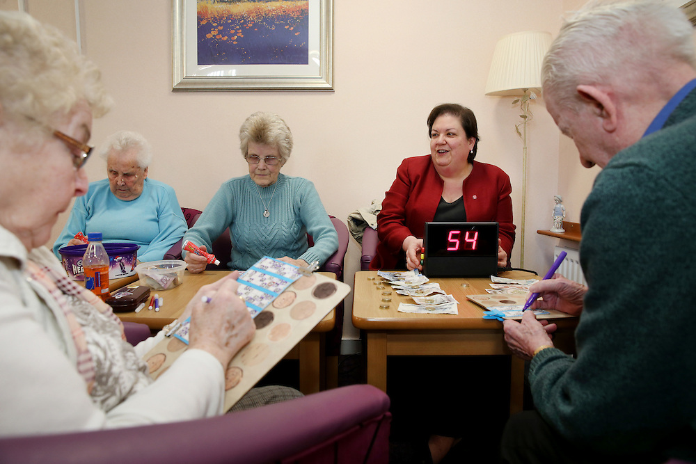 Labour's Jackie Baillie on a to a visit sheltered housing complex in Dumbarton. Ms Baillie will visit Church Court to meet with residents and take part in the bingo. Picture Robert Perry for The Herald and Evening Times 28th March 2016<br /> <br /> Must credit photo to Robert Perry<br /> <br /> FEE PAYABLE FOR REPRO USE<br /> FEE PAYABLE FOR ALL INTERNET USE<br /> www.robertperry.co.uk<br /> NB -This image is not to be distributed without the prior consent of the copyright holder.<br /> in using this image you agree to abide by terms and conditions as stated in this caption.<br /> All monies payable to Robert Perry<br /> <br /> (PLEASE DO NOT REMOVE THIS CAPTION)<br /> This image is intended for Editorial use (e.g. news). Any commercial or promotional use requires additional clearance. <br /> Copyright 2016 All rights protected.<br /> first use only<br /> contact details<br /> Robert Perry     <br /> 07702 631 477<br /> robertperryphotos@gmail.com<br />         <br /> Robert Perry reserves the right to pursue unauthorised use of this image . If you violate my intellectual property you may be liable for  damages, loss of income, and profits you derive from the use of this image.