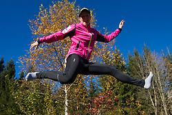 Vesna Fabjan during Training camp of Slovenian Cross country Ski team on October 23, 2012 in Ramsau am Dachstein, Austria. (Photo By Vid Ponikvar / Sportida)