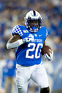 Kentucky Wildcats running back Kavosiey Smoke (20) runs upfield during the second half against Eastern Michigan at Kroger Field in Lexington, Ky., Saturday, Sept. 7, 2019.