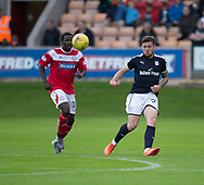 Dundee&rsquo;s Kerr Waddell and Brechin's Isaac Layne - Brechin City v Dundee pre-season friendly at Glebe Park, Brechin, Photo: David Young<br /> <br />  - &copy; David Young - www.davidyoungphoto.co.uk - email: davidyoungphoto@gmail.com