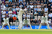 Moeen Ali of England leaves a short pitched ball during the first day of the 4th SpecSavers International Test Match 2018 match between England and India at the Ageas Bowl, Southampton, United Kingdom on 30 August 2018.