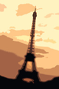 Photo illustration of the Eiffel Tower in Paris, France