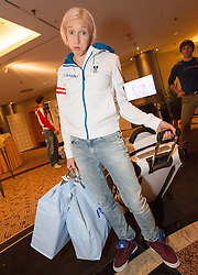28.01.2014,  Marriott, Wien, AUT, Sochi 2014, Einkleidung OeOC, im Bild Daniela Iraschko-Stolz (Skisprung, AUT) // Daniela Iraschko-Stolz (Skijumping, AUT) during the outfitting of the Austrian National Olympic Committee for Sochi 2014 at the  Marriott in Vienna, Austria on 2014/01/28. EXPA Pictures © 2014, PhotoCredit: EXPA/ JFK
