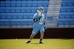 CHAPEL HILL, NC - MARCH 02: Nicky Solomon #5 of the North Carolina Tar Heels during a game against the Denver Pioneers on March 02, 2019 at the UNC Lacrosse and Soccer Stadium in Chapel Hill, North Carolina. Denver won 12-10. (Photo by Peyton Williams/US Lacrosse)