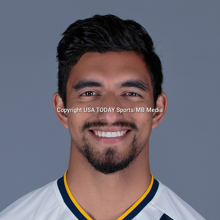 Feb 25, 2016; USA; LA Galaxy player A.J. DeLaGarza poses for a photo. Mandatory Credit: USA TODAY Sports