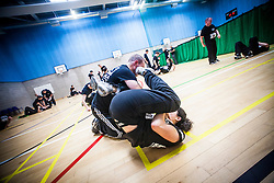 Franklyn Hartkamp, KMG Expert Level 3, takes the Institute Of Krav Maga Scotland grading at Stirling.<br /> &copy;Michael Schofield.