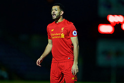 HIGH WYCOMBE, ENGLAND - Monday, March 6, 2017: Liverpool's Kevin Stewart in action against Reading during the FA Premier League 2 Division 1 Under-23 match at Adams Park Stadium. (Pic by David Rawcliffe/Propaganda)