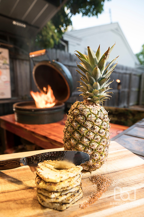 Grilled Pineapple shot by Brandon Alms Photography