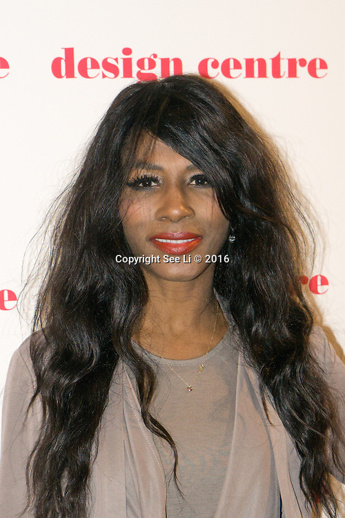 London,England,UK : 25th May 2016 : Singer Sinitta attend the Marilyn Monroe: Legacy of a Legend launch at the Design Centre, Chelsea Harbour, London. Photo by See Li