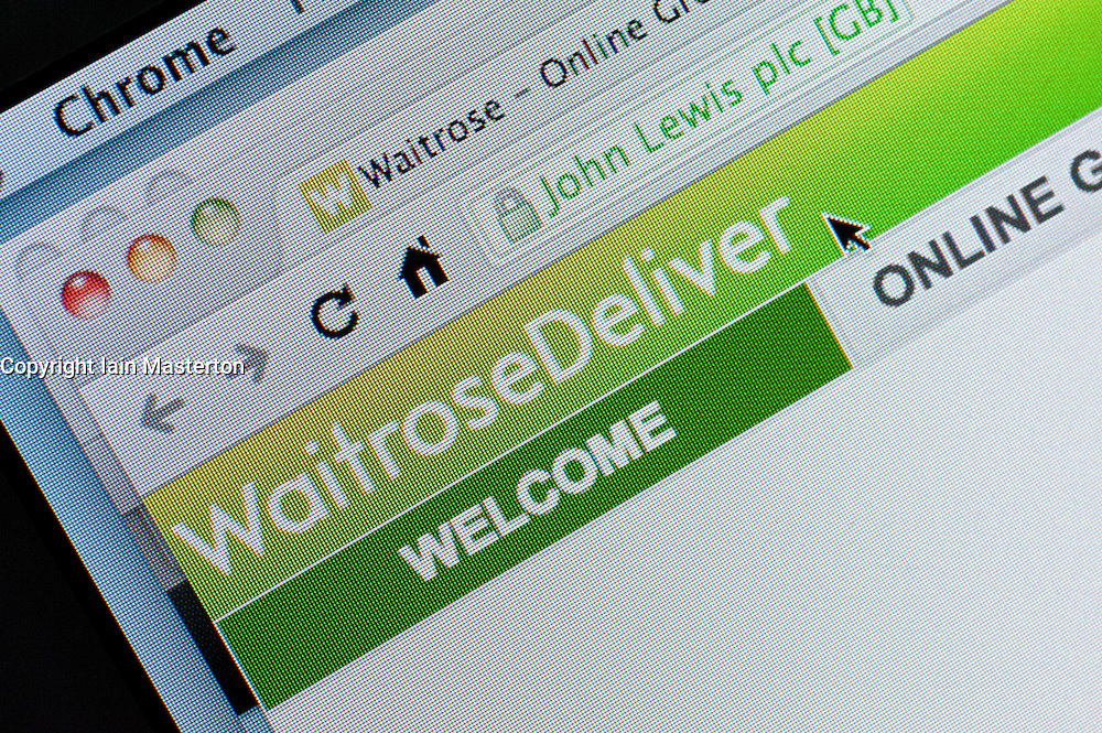 Detail of screenshot from website of Waitrose home shopping and delivery service