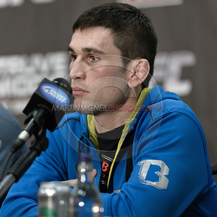 """NOTTINGHAM, ENGLAND, SEPTEMBER 27, 2012: Amir Sadollah is pictured during the pre-fight press conference for """"UFC on Fuel TV: Struve vs. Miocic"""" inside the Hilton Hotel in Nottingham , United Kingdom on Thursday, Septermber 27, 2012"""