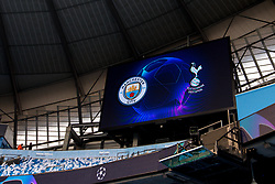 A general view of The Etihad Stadium, ahead of Manchester City v Tottenham Hotspur in the Champions League Quarter Final 2nd Leg - Mandatory by-line: Robbie Stephenson/JMP - 17/04/2019 - FOOTBALL - Etihad Stadium - Manchester, England - Manchester City v Tottenham Hotspur - UEFA Champions League Quarter Final 2nd Leg