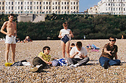 Teenagers on Brighton Beach, UK, 1984