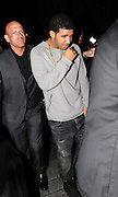 04.APRIL 2012. LONDON<br /> <br /> AMERICAN RAP STAR DRAKE LEAVING ANAYA NIGHT CLUB IN MAYFAIR AT 3.00AM AFTER PARTYING WITH ASHLEY COLE. <br /> <br /> BYLINE: EDBIMAGEARCHIVE.COM<br /> <br /> *THIS IMAGE IS STRICTLY FOR UK NEWSPAPERS AND MAGAZINES ONLY*<br /> *FOR WORLD WIDE SALES AND WEB USE PLEASE CONTACT EDBIMAGEARCHIVE - 0208 954 5968*