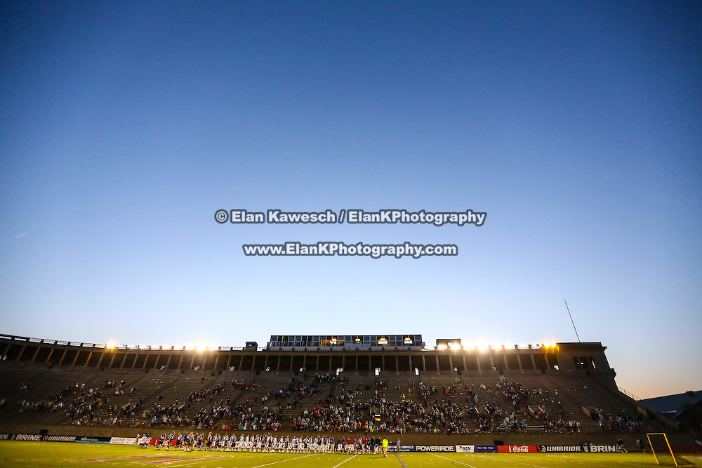The field is seen during the game at Harvard Stadium on May 17, 2014 in Boston, Massachuttes. (Photo by Elan Kawesch)
