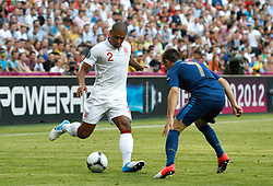 Glen Johnson and Franck Ribery during the 1-1 draw in the Group D Match Against France AT The Euro 2012 Football Championships in Donetsk, Ukraine, June 11 2012. Photo By Imago/i-Images