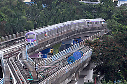 July 4, 2018 - Kolkata, West Bengal, India - Kolkata Metro train rake run for the first time during trail run between Salt Lake depots to Central Park station on East West Metro line. (Credit Image: © Saikat Paul/Pacific Press via ZUMA Wire)