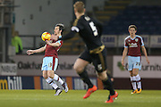 Burnley midfielder Joey Barton  brings the ball under control during the Sky Bet Championship match between Burnley and Nottingham Forest at Turf Moor, Burnley, England on 23 February 2016. Photo by Simon Davies.