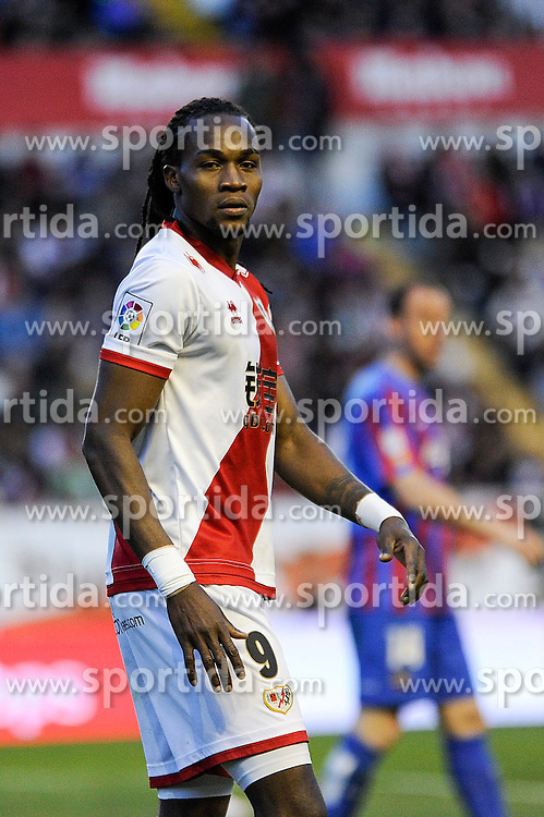 28.02.2015, Campo de Futbol, Madrid, ESP, Primera Division, Rayo Vallecano vs Levante UD, 25. Runde, im Bild Rayo Vallecano&acute;s Manucho // during the Spanish Primera Division 25th round match between Rayo Vallecano and Levante UD at the Campo de Futbol in Madrid, Spain on 2015/02/28. EXPA Pictures &copy; 2015, PhotoCredit: EXPA/ Alterphotos/ Luis Fernandez<br /> <br /> *****ATTENTION - OUT of ESP, SUI*****