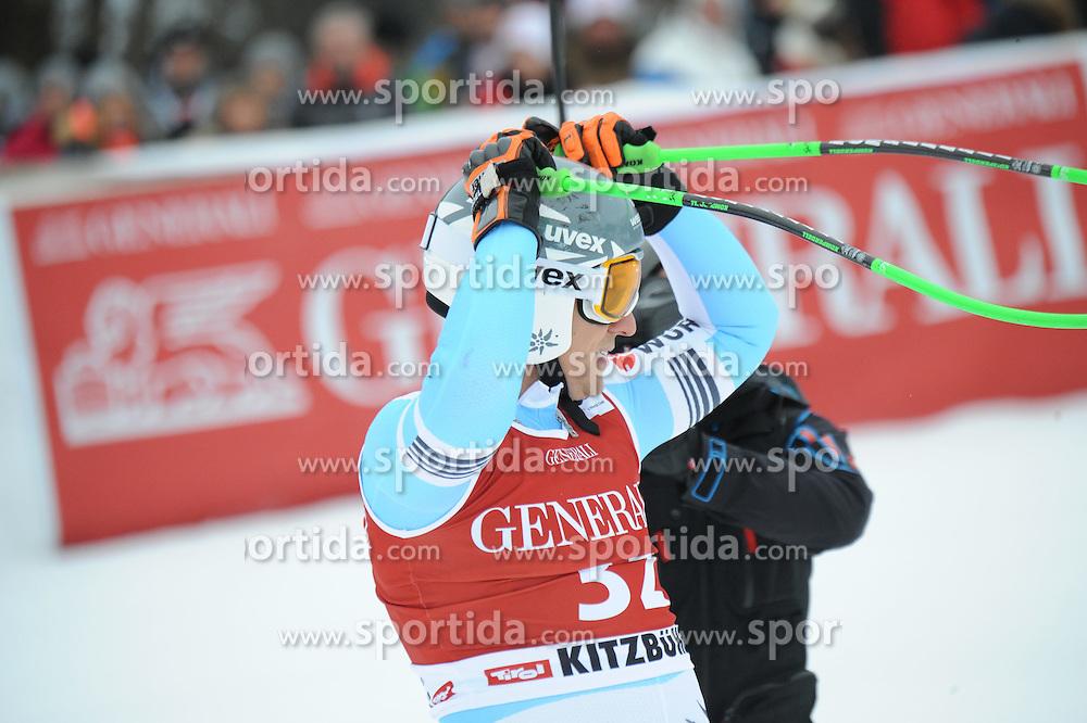 23.01.2015, Streif, Kitzbuehel, AUT, FIS Ski Weltcup, Supercombi Super G, Herren, im Bild Josef Ferstl (GER) // Josef Ferstl of Germany reacts after his run of the men's Super Combined Super-G of Kitzbuehel FIS Ski Alpine World Cup at the Streif Course in Kitzbuehel, Austria on 2015/01/23. EXPA Pictures © 2015, PhotoCredit: EXPA/ Erich Spiess