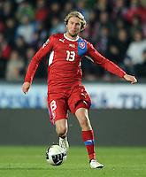 Fussball International, Nationalmannschaft   EURO 2012 Play Off, Qualifikation, Tschechische Republik - Montenegro        11.11.2011 Jaroslav Plasil (Tschechische Republik)