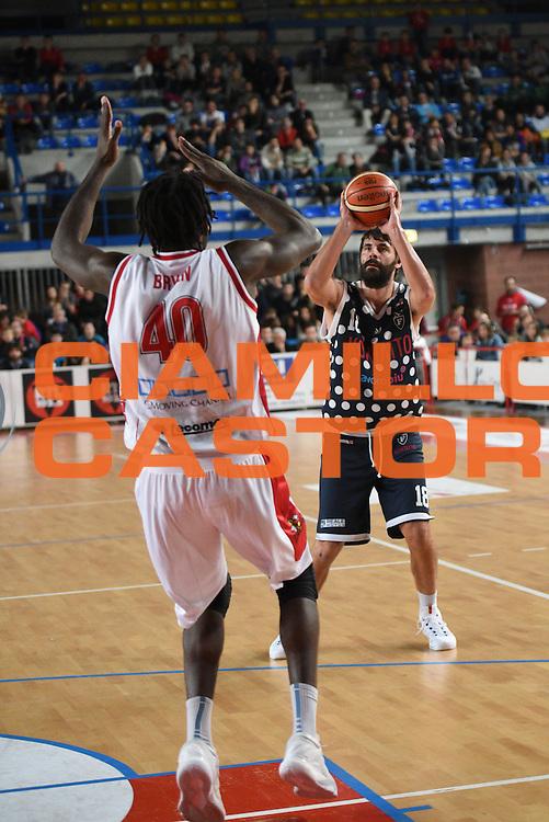 Luca Gandini<br /> Dinamica Generale Mantova - Kontatto Bologna<br /> Campionato Basket LNP 2016/2017<br /> Mantova 06/11/2016<br /> Foto Ciamillo-Castoria