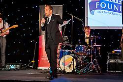 Kai Horstmann presents during the auction - Ryan Hiscott/JMP - 06/08/2018 - RUGBY - Sandy Park - Exeter, England - Exeter Chiefs Season Launch Dinner