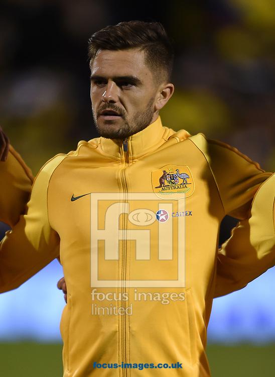 Josh Risdon of Australia during the International Friendly match at Craven Cottage, London<br /> Picture by Daniel Hambury/Focus Images Ltd 07813022858<br /> 27/03/2018