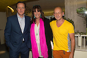 DAVID CAMERON,; STEVE HILTON;  GAIL REBUCK Launch of ' More Human',  Designing a World Where People Come First' by Steve Hilton. Party held at Second Home in Princelet St, off Brick Lane, London. 19 May 2015.