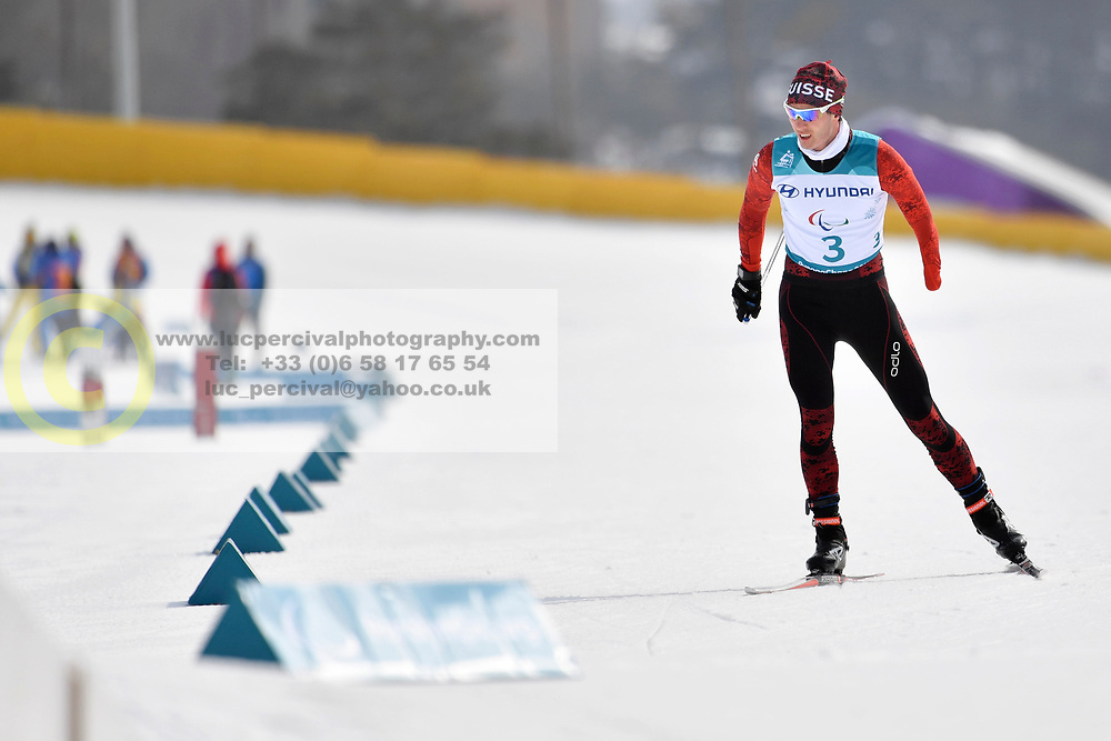 TAVASCI Luca SUI LW8 competing in the ParaSkiDeFond, Para Nordic Skiing, 20km at  the PyeongChang2018 Winter Paralympic Games, South Korea.